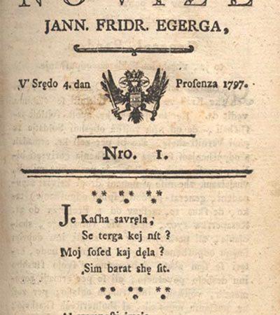 4. januar: Začne izhajati prvi časopis v slovenskem jeziku