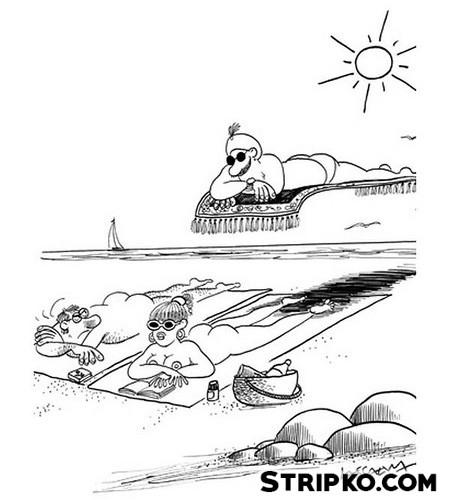 Leteči tepih na morju